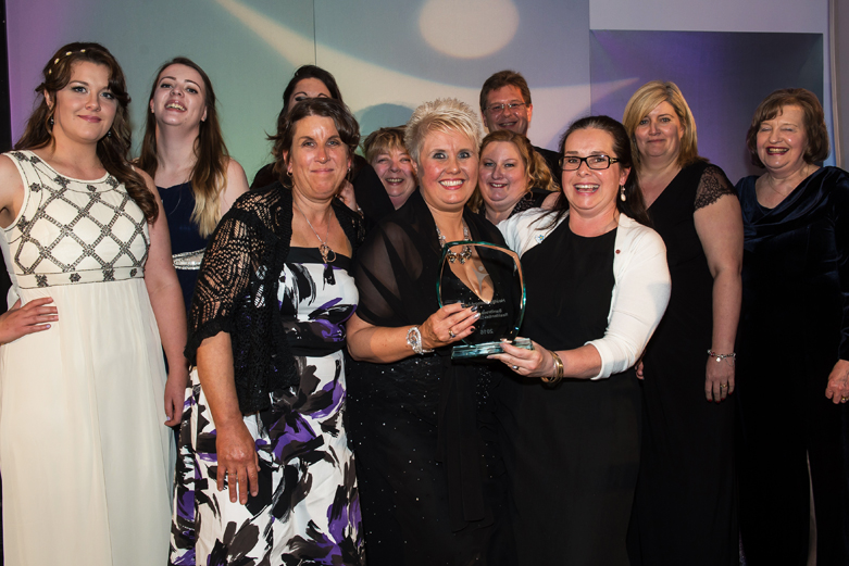 Sam brook House Care Home Award Winners